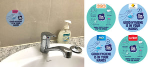 Hygiene Reminder Electrostatic Stickers - New Age Biohealth