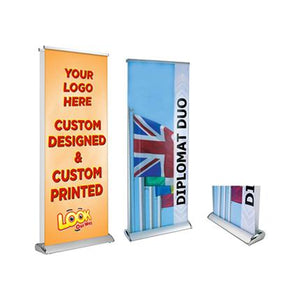 Double Sided Pull Up Banner (85 x 200cm) - New Age Biohealth