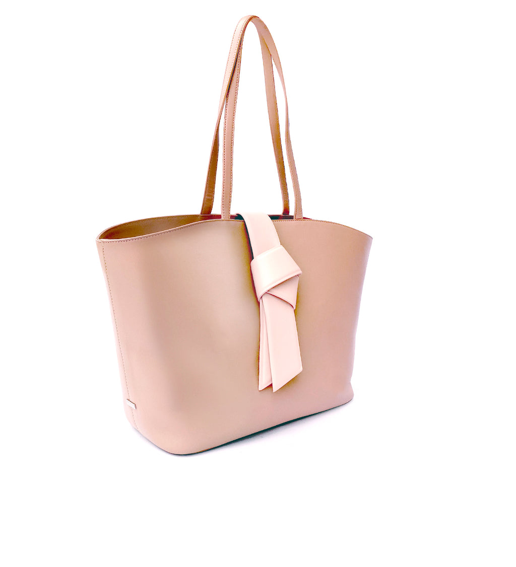 SHOPPING BAG WTH KNOT DETAILING