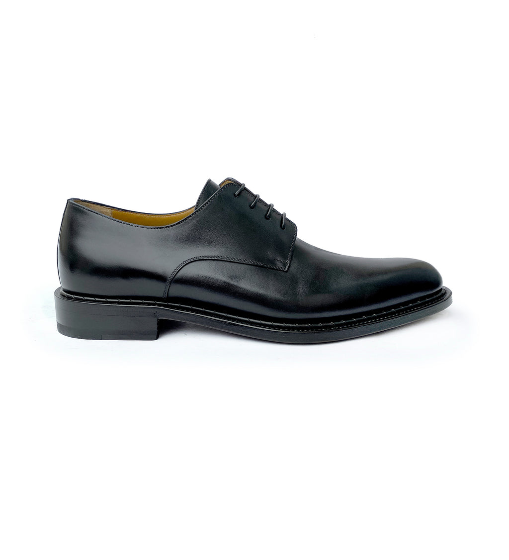 BLACK LABEL DERBY SHOES IN LEATHER