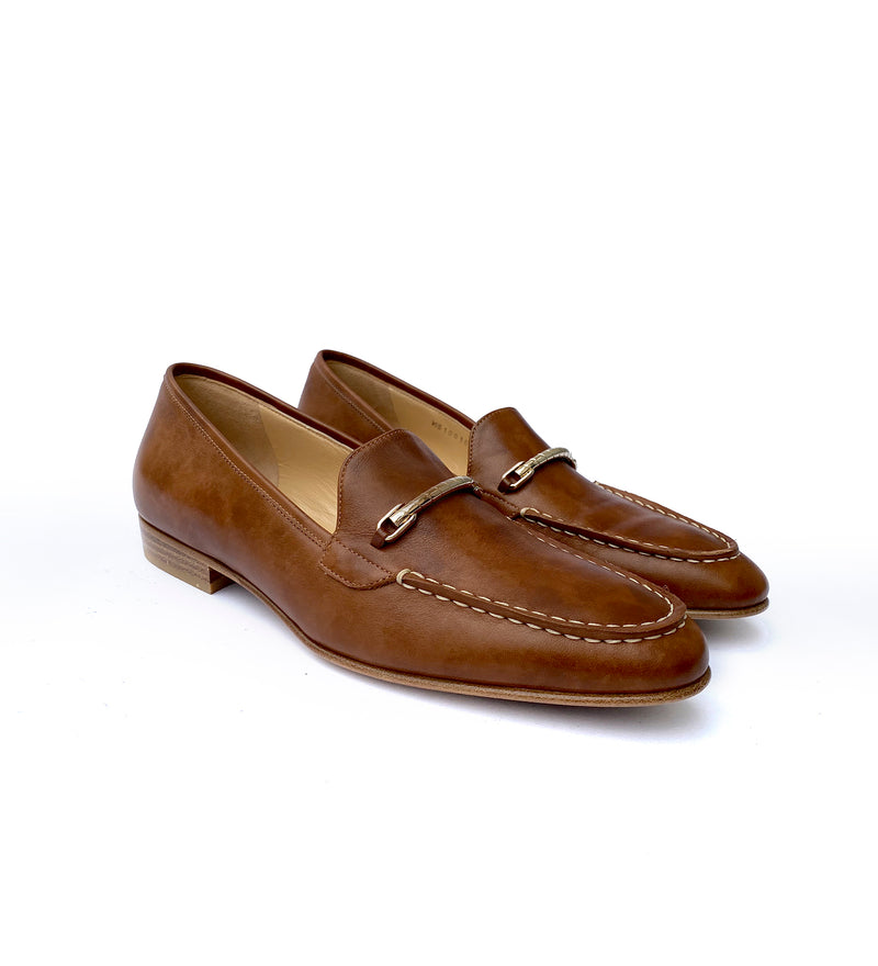 ANTIQUED LEAHER LOAFERS