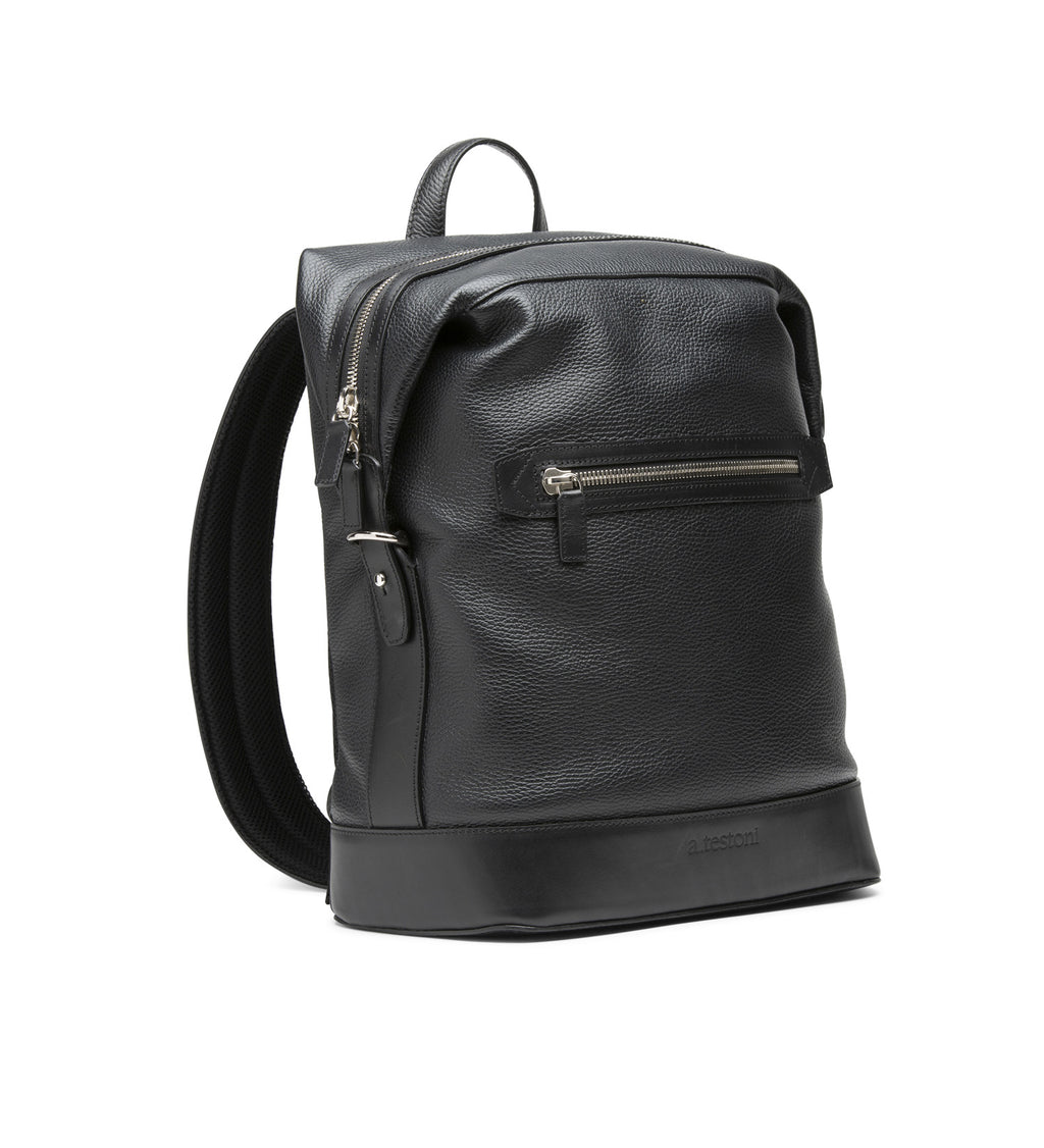 EMBOSSED LEATHER BACKPACK