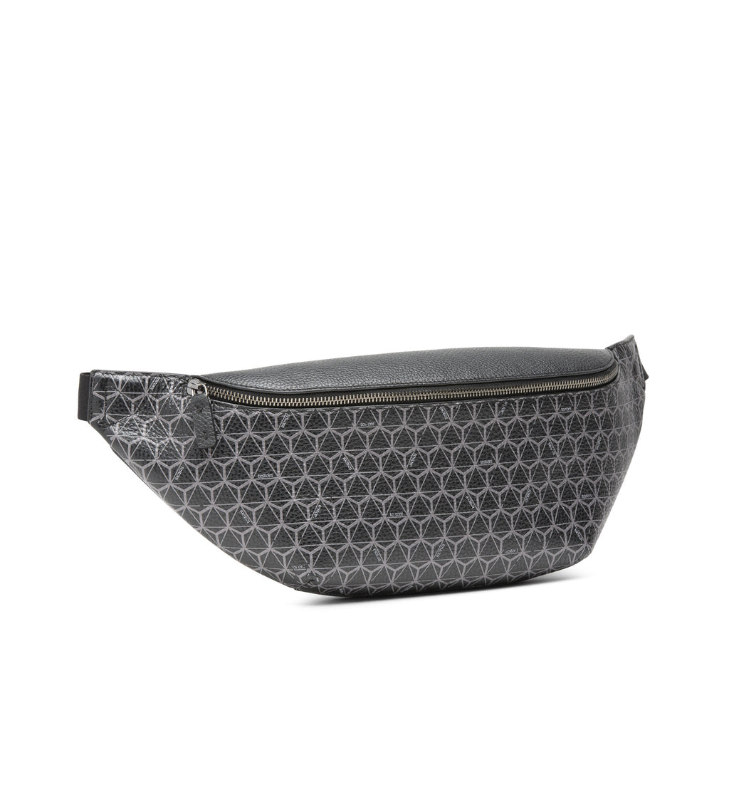 LEATHER WAISTBAG WITH HEXAGON PATTERN