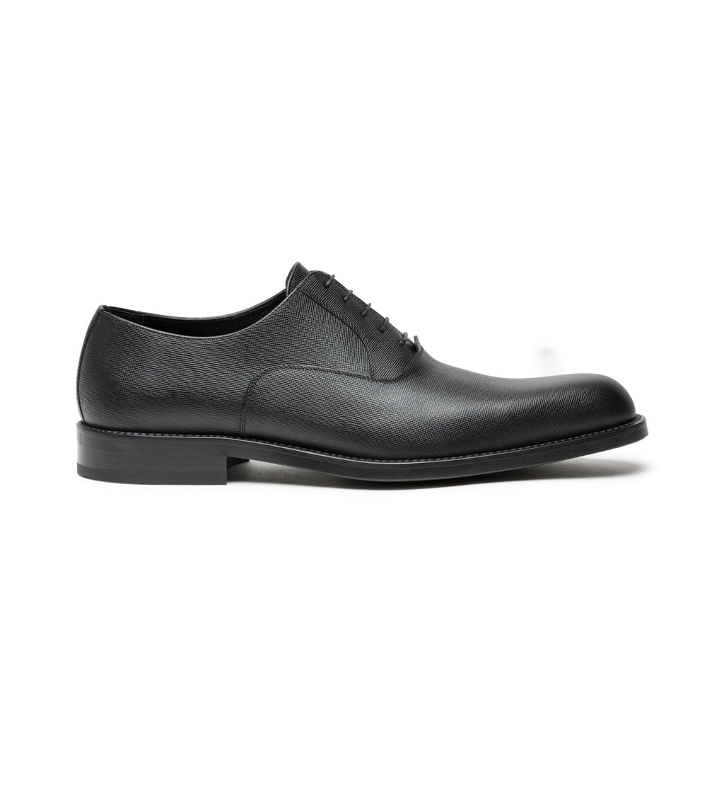 SAFFIANO OXFORD LACE-UPS