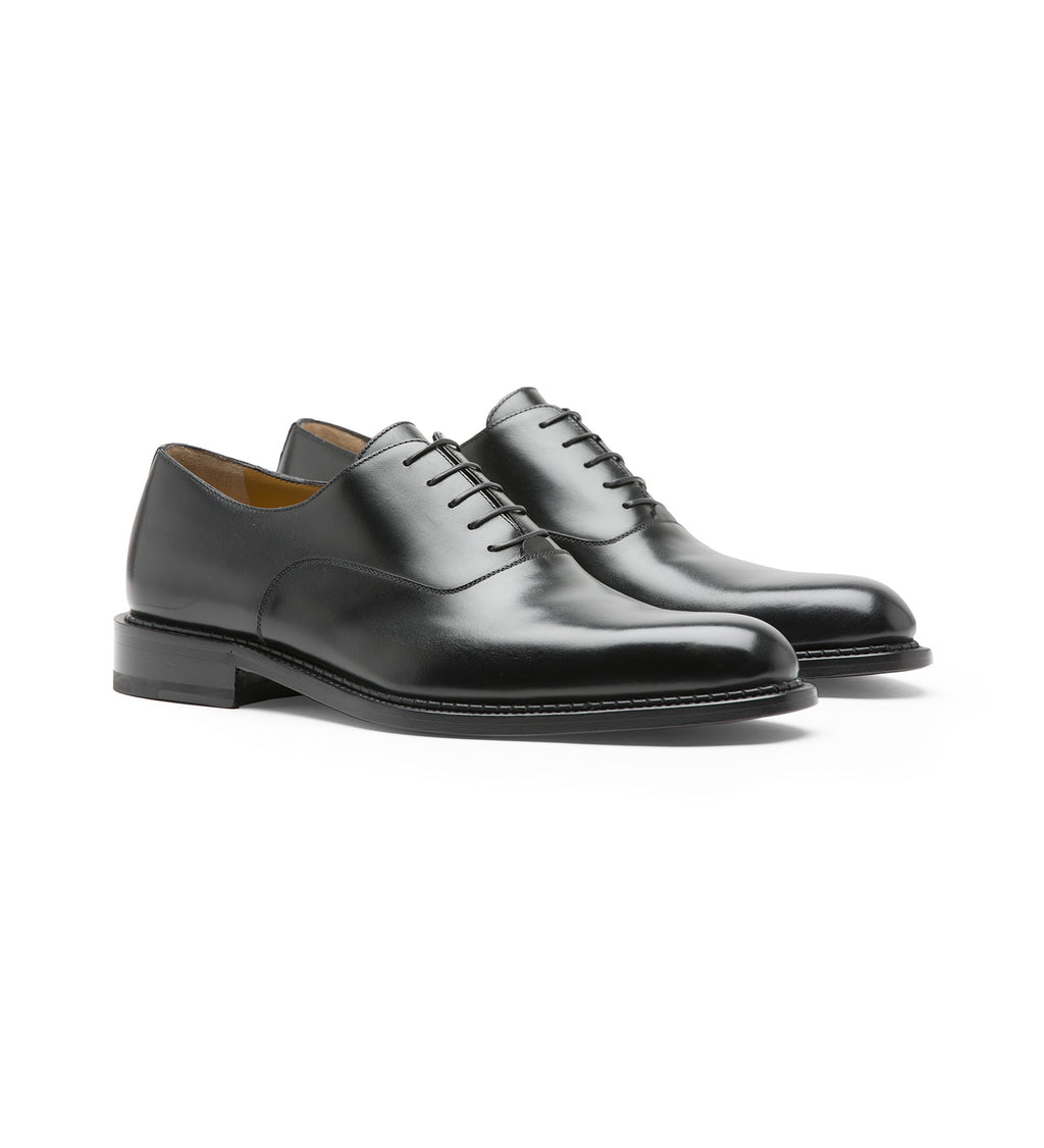 BLACK LABEL OXFORD SHOES IN LEATHER