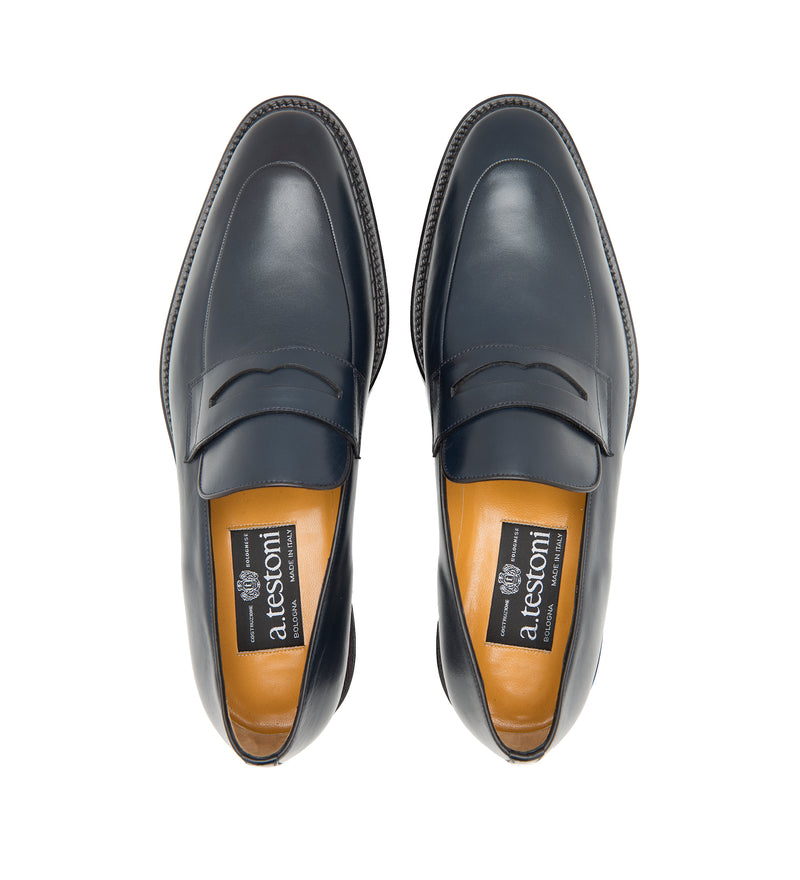 LEATHER BLACK LABEL SLIP-ONS