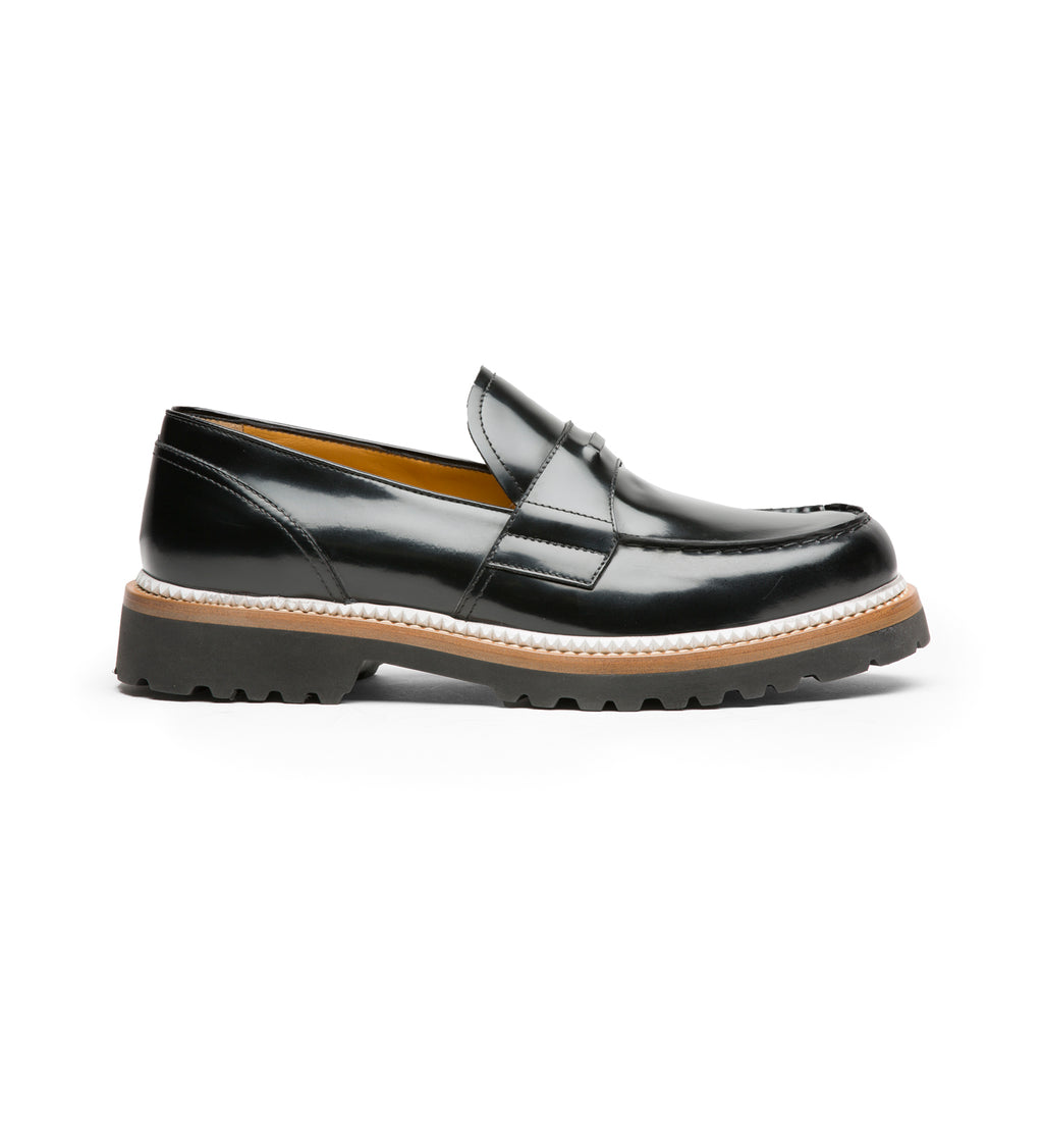 MAT BRUSHED LEATHER LOAFERS