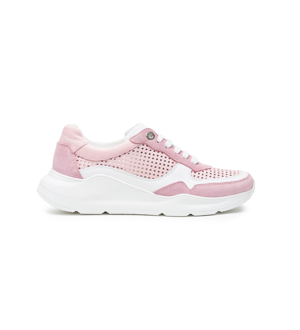 PINK SUEDE RUNNING SHOES