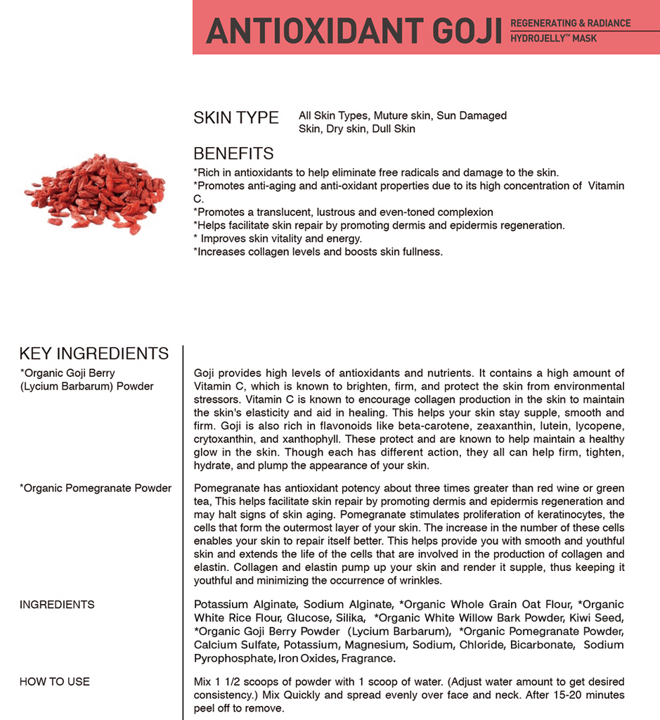 ANTIOXIDANT GOJI HYDROJELLY™ MASK (pack of 2)