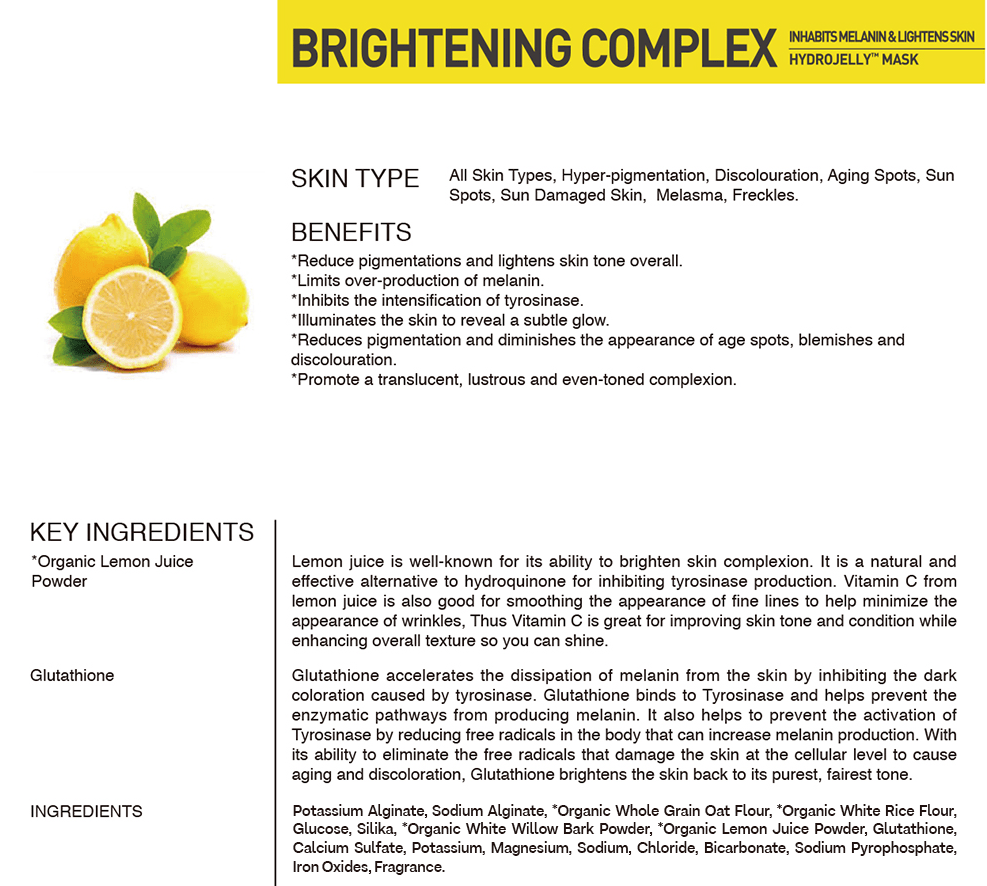 BRIGHTENING HYDROJELLY™ MASK (pack of 2)