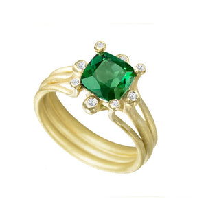 Suzy Landa Green Tourmaline Ring