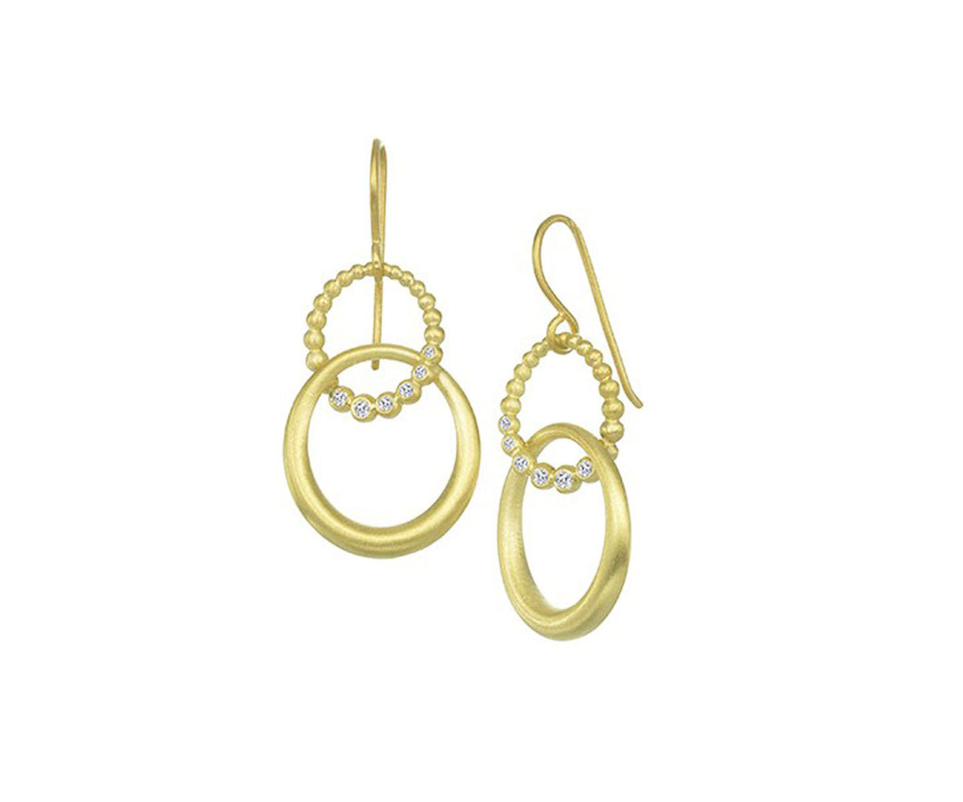 Suzy Landa Double Circle Earrings