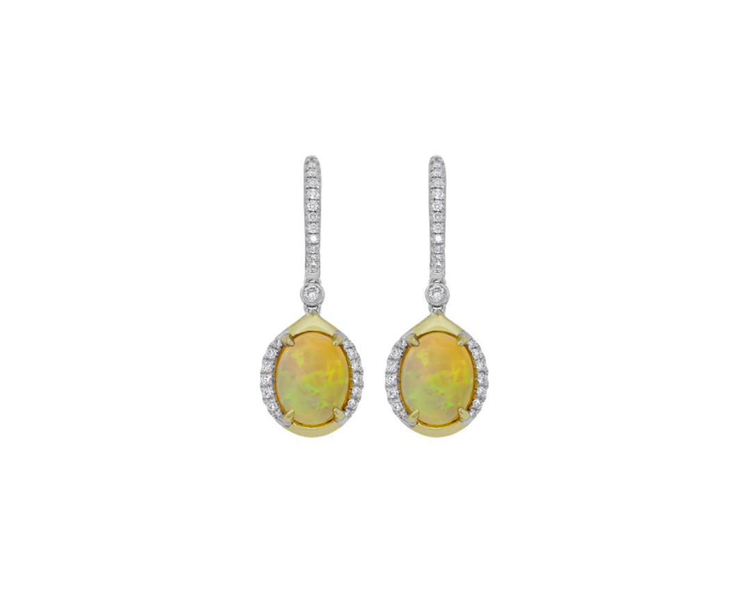 Opal/Diamond Earrings