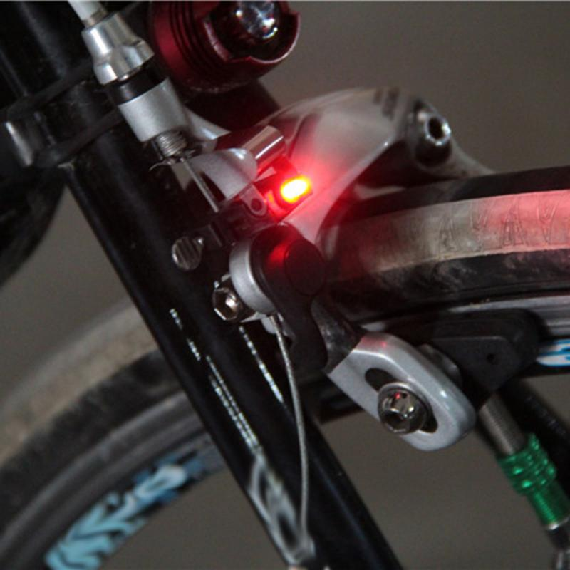 Portable Waterproof Nano Bike Brake Red LED light Safe Indicator Light Kits Bicycle Lights Bicycle Accessories