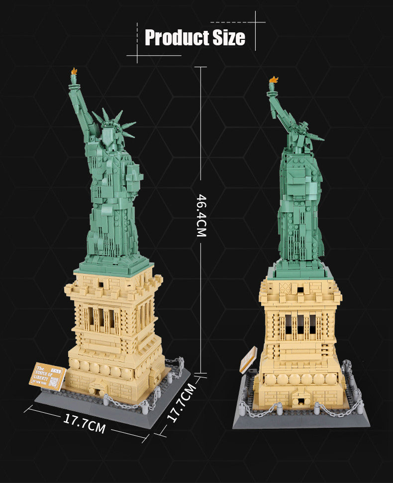 world Architecture series Statue of Liberty Model Building Blocks set classic MOC  City streetview Toys for children Gift