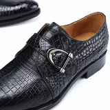 Handmade Crocodile Leather Dress Shoes 6037A