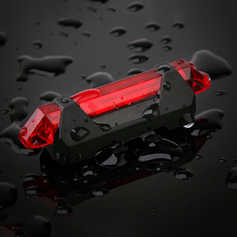 Waterproof Rear Tail Light LED USB Rechargeable Mountain Bike Cycling Light Taillamp Safety Warning Light Bicycle Light
