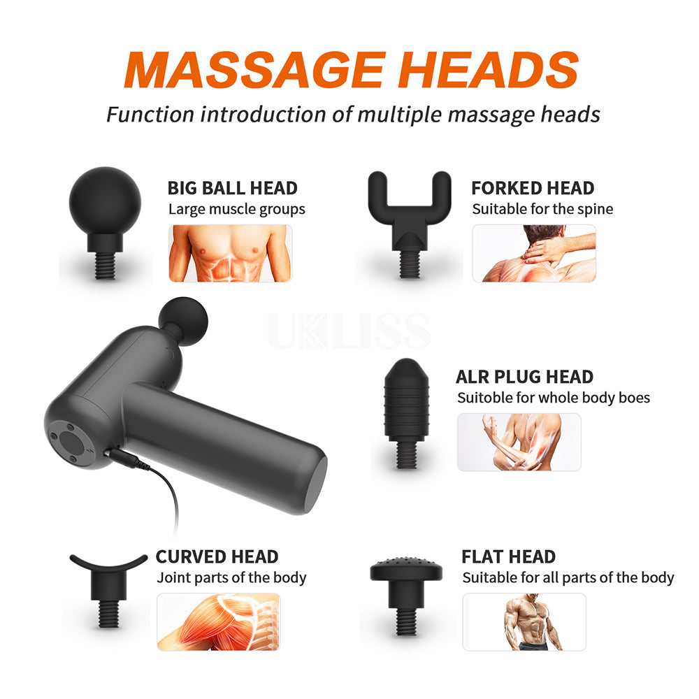 Deep Muscle Massage Gun Electric Massager Muscle Stimulator Pain Relief Body Slimming Fitness Percussion Massager LCD Display