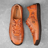 Men Hand Stitching Soft Comfort Shoes 605