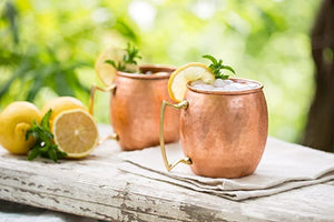 Copper Moscow Mule Brass Handle set of 4