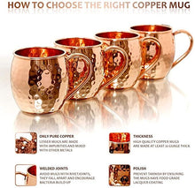 Load image into Gallery viewer, Copper Moscow Mule Copper Handle set of 4 - Perilla Home