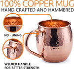Load image into Gallery viewer, Copper Moscow Mule Copper Handle set of 4
