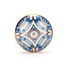 Load image into Gallery viewer, Aster Blue Ceramic Knob ( Set Of 6 )
