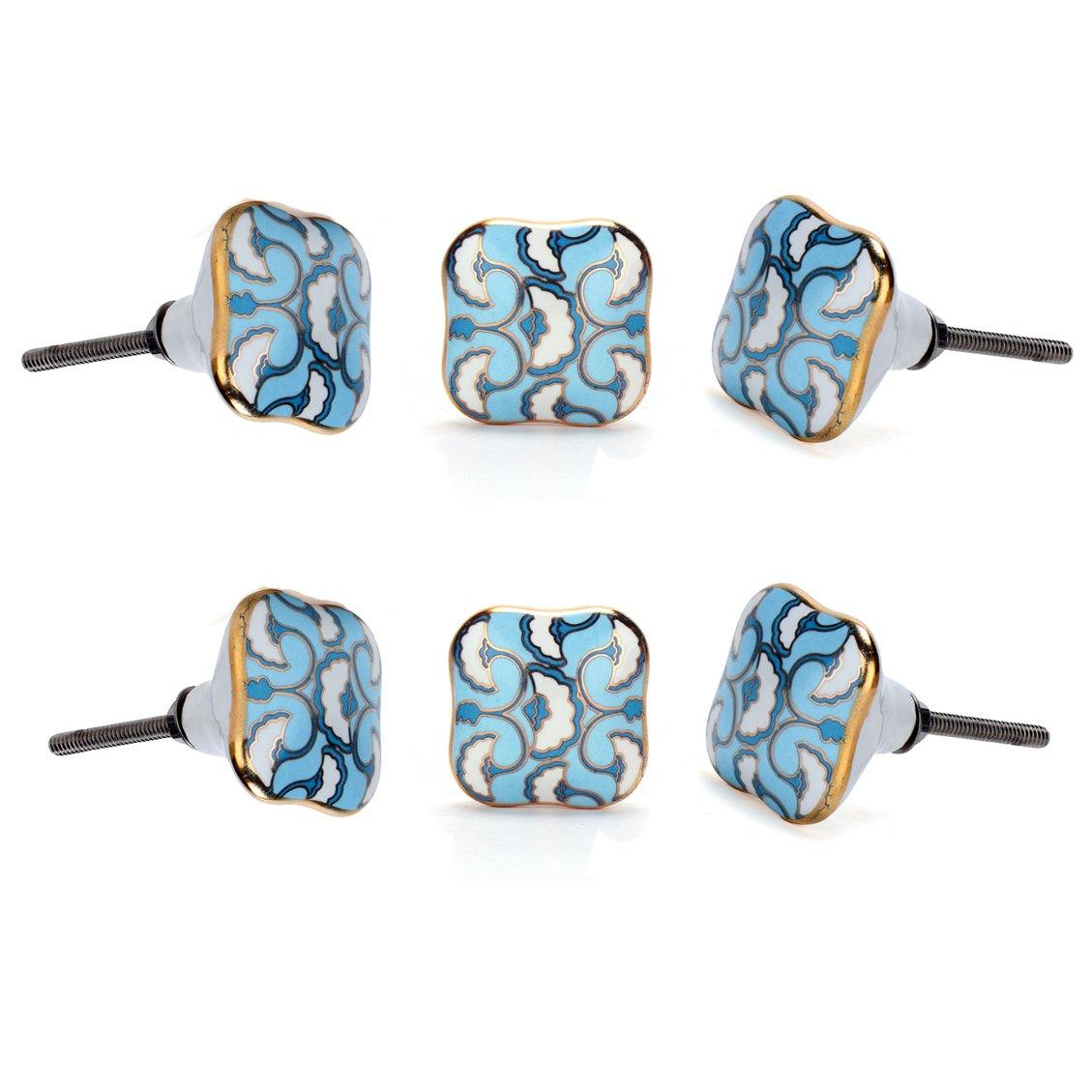 Cadia Ceramic Knob ( Set Of 6 ) - Perilla Home