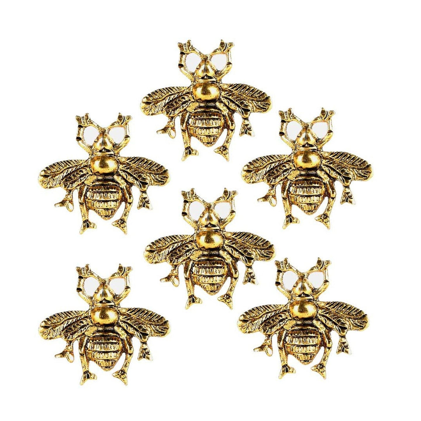 Set of 6 Brass Bee Knob - Perilla Home