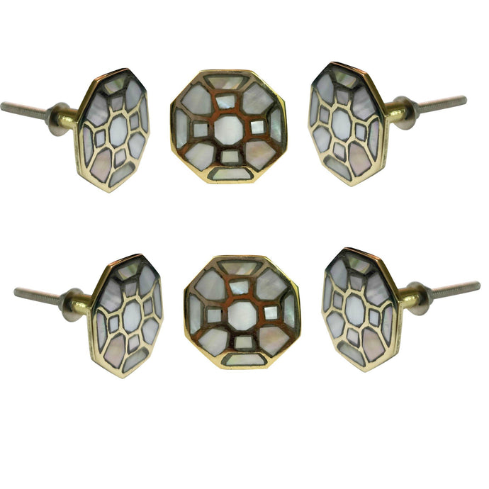 Set of 6 Diva Mother of Pearl knob - Perilla Home