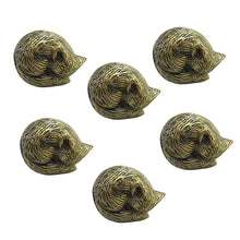 Charger l'image dans la galerie, Set Of Six Sleeping Fox Brass Knob - Perilla Home