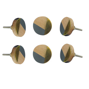 Wooden Artistic Knob Set Of 6 - Perilla Home