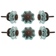 Load image into Gallery viewer, Light Blue Melon Glass Knob - Perilla Home