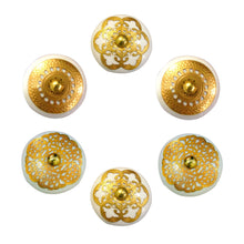 Charger l'image dans la galerie, Golden Round Ceramic drawer Knob set of 6
