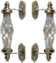 Load image into Gallery viewer, Mughal Glass Chrome Finish Victorian Handle - Perilla Home