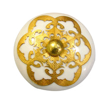 Charger l'image dans la galerie, Golden Round Ceramic drawer Knob