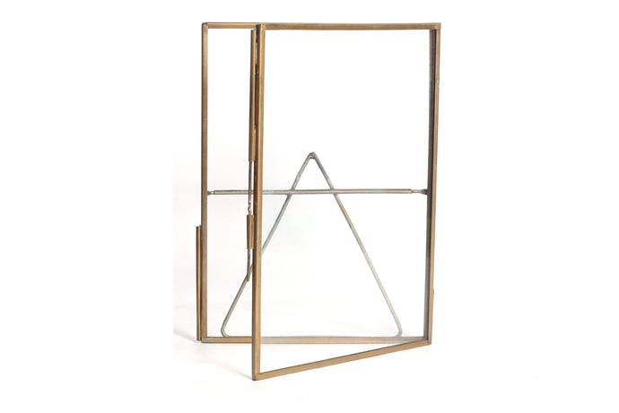 Personalized Glass & Brass Stand Photo Frame 7*5