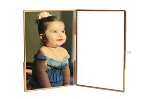 "Personalized Glass & Brass Stand Photo Frame 7*5"" - Perilla Home"