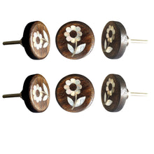 Load image into Gallery viewer, Daisy Flower MOP Wooden Round Knob - Perilla Home