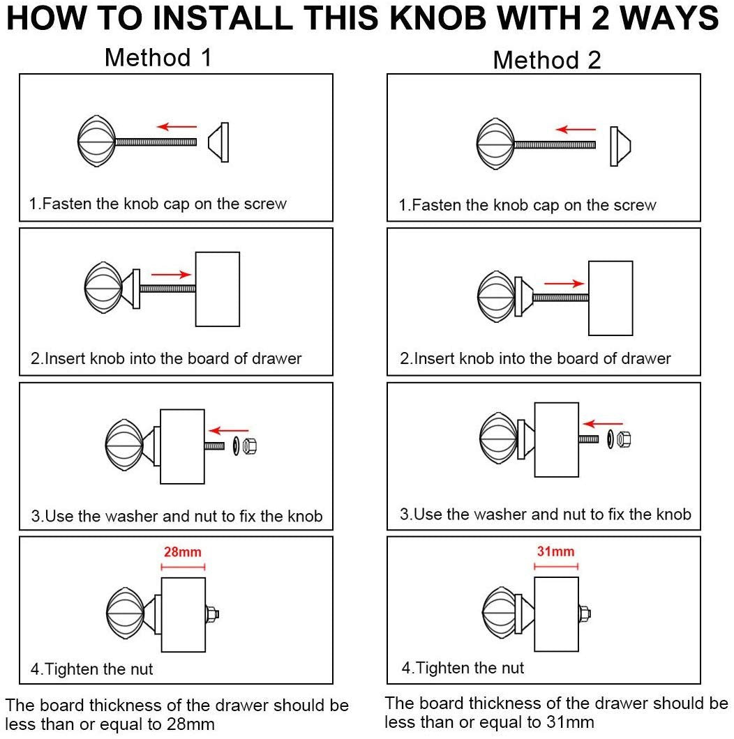How to install a knob into a drawer