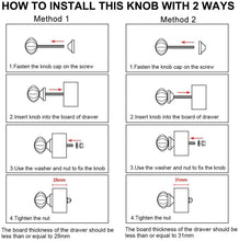 Carregar imagem no visualizador da galeria, How to install a knob into a drawer