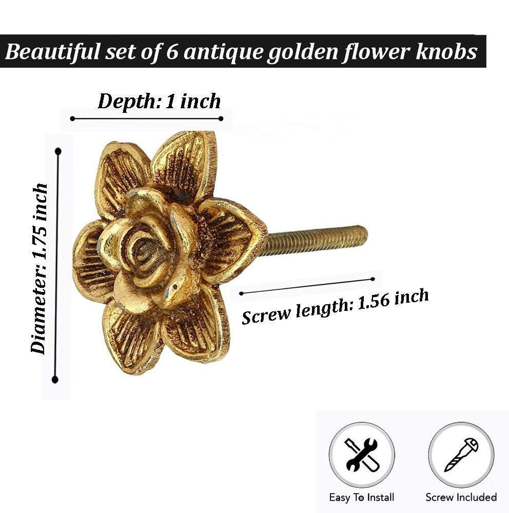 Antique Brass drawer Knobs - Perilla Home