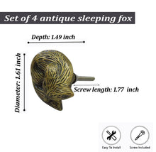 Charger l'image dans la galerie, Sleeping Fox Brass Knob - Perilla Home