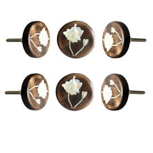 Load image into Gallery viewer, Lily Flower MOP Wooden Round Knob - Perilla Home