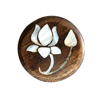 Load image into Gallery viewer, Lotus Flower MOP Wooden Round Knob - Perilla Home