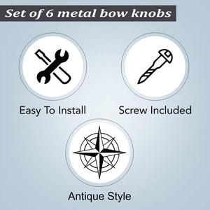 Stainless Steel Knob, Set Of 6 - Perilla Home