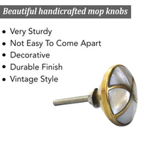 Load image into Gallery viewer, Marble Brass MOP Knob - Perilla Home