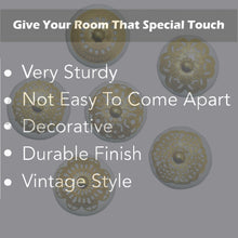 Charger l'image dans la galerie, Golden Round Ceramic drawer Knob features