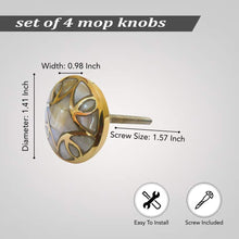 Load image into Gallery viewer, mop knob size measurements
