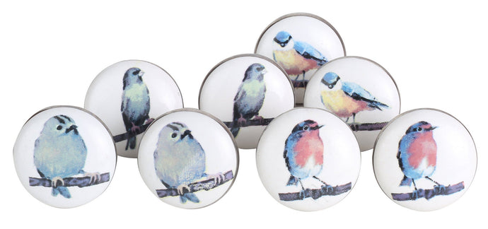 Bird Ceramic drawer Knobs Set Of 8 - Perilla Home